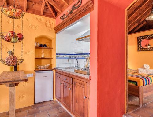 Casa Iguana Küche + Schlafraum